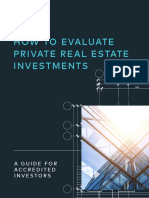 How to Evaluate Private Real Estate Investments
