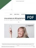 Una Semana en Singularity University