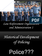 History of Policing Lecture 1