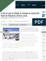 2015-06-26 El Dia en Que El Estado Le Entrego El Control de Salar Atacama a Ponce Lerou de SQM