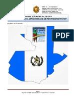 Plan de Seguridad No. 36-2018, 197 Años de Independencia de Guatemala