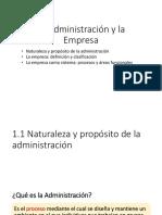 1.1. La Adminiatracion y La Empresa
