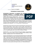 2019-09-03 ITALIAN PRESS RELEASE - UN SWISSINDO DECLARATION TRANSACTION TO DEFEND WORLD FINANCIAL ECONOMY AND WORLD SECURITY IN THE REPUBLIC OF INDONESIA  VIA UNS-DRA GOLD BACKED CRYPTOCURRENCY