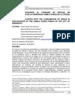 FACTORES ASOCIADOS AL CONSUMO DE DROGAS EN ADOLESCENTES DE LA PARROQUIA CAMILO PONCE DE LA CIUDAD DE BABAHOYO