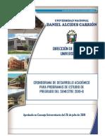 Cronograma de Desarrollo Semestre Academico 2019-B