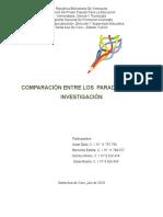 Cuadro Comparativo Paradigmas de Investigación