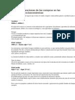 Evolución y Funciones de Las Compras en Las Estructuras Socioeconómicas