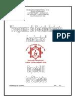 Cuadernillo Fortalecimiento 1er Bimestre Plan 2011