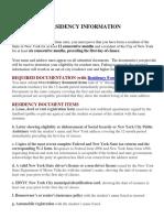 Residency information