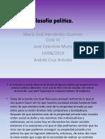 Filosofía Política María José.