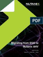 Nutanix TN 2072 ESXi AHV Migration Version 2.2