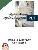 Lesson 2. Approaches in Appreciating Literature
