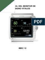 Manual Del Monitor de Signo Vitales