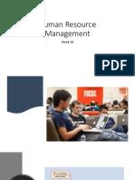 Week 10 Human Resource Management