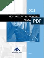 Plan de Continuidad del Negocio