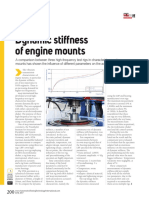 Stiffness of engine mount