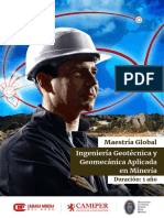 Maestria Ingenieria Geotecnica y Geomecanica Aplicada en Mineria