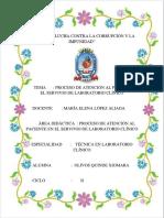 Procesos de Atención en El Servicio de Laboratorio Clínico