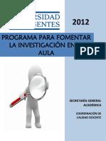 11.-Programa Para Fomentar La Investigación en El Aula