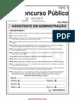 Prova Ufrpe-Assistente Em Administracao Tipo 1-2016