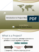 Modified Introduction to Project Management
