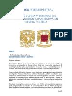 Metodos cuantitativos para la investigación en Ciencia Política