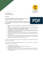 Letter to Greta