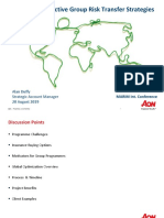 How to Develop an Effective Group Risk Transfer Strategy Alan Duffy