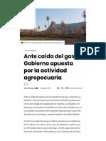 Gobierno Boliviano - Cambio Del Gas a La Actividad Agropecuaria