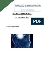 NEUROTRANSMISORES Y ALIMENTACION