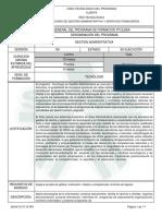 Infome Programa de Formación Titulada Teg. Gestion Administrativa Vr 100