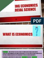 Revisiting Economics as a Social Science