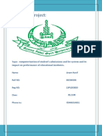 Project computerized  Admission Fee System and its impact on educational institutes