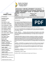 Bdc Minutes of Meeting
