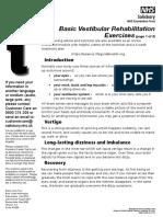 Vestibular Rehabilitation Exercises Pi 1209