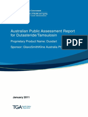Australian Public Assessment Report For Dutasteride Tamsulosin Cytochrome P450 Comorbidity