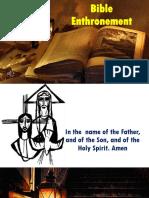 Bible Enthronement