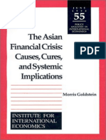 Goldstein - The Asian Financial Crisis; Causes, Cures, And Systemic Implications (1998)