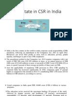 Current State in Csr in India