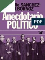 Sanchez - Albornoz, Claudio - Anecdotario Político