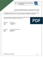 PMAT.14 Selección y Evaluación de Proveedores