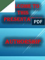 1. Authorship
