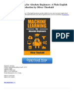 Machine Learning for Absolute Beginners a Plain English Introduction