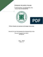 Proyecto de Programación DISEÑO DE MEZCLA -Paucara Coaguila Yean Martin