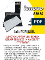 Lenovo Laptop LED Screen Repair Services in Ameerpet, Hyderabad  .