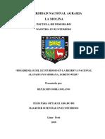 DESARROLLO DEL ECOTURISMO EN LA RN ALLPAHUAYO MISHANA