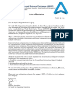 AASE Letter of Invitation