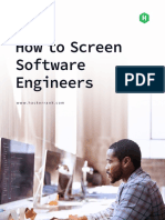 HackerRank How to Screen Software Engineers Guide