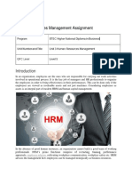 Human Resources Management Assignment