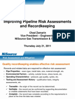 Improving Pipeline Risk Assessments and Recordkeeping